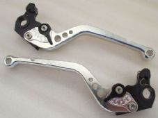 Ducati MONSTER M900 (94-99), CNC levers long silver/black adjusters, DB12/DC12